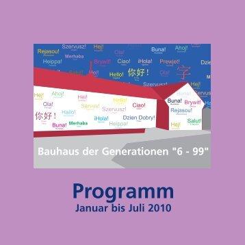 Programm - Jugend-Kunstschule Rodenkirchen
