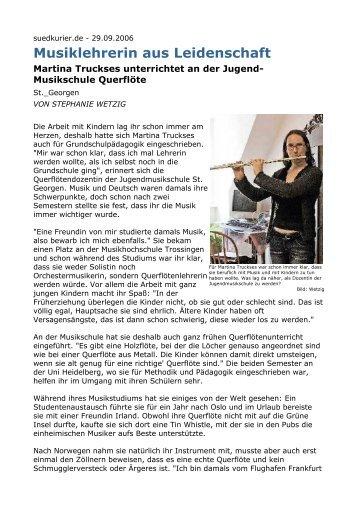 M.Truckses Artikel - Jugendmusikschule St. Georgen