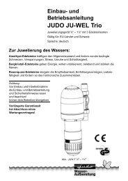 Einbau- und Betriebsanleitung JUDO JU-WEL Trio
