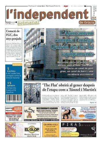 Número 464: 21 de desembre de 2012 - L'independent de Gràcia
