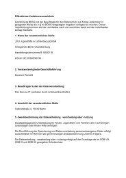 Öffentliches Verfahrensverzeichnis - Juli Berlin