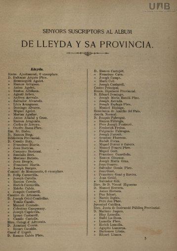 DE LLEYDA Y SA PROVÍNCIA