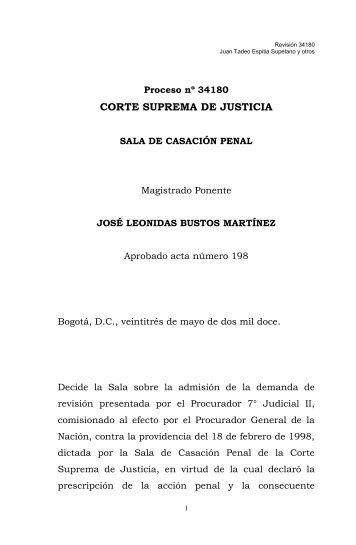 Proceso nº 34180 - Corte Suprema de Justicia