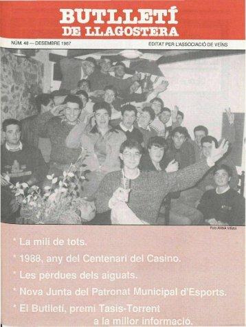 Desembre 1987 - Arxiu - Llagostera