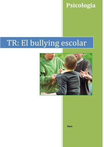TR: El bullying escolar 2n Batxillerat 2 - Ajuntament de Cornellà