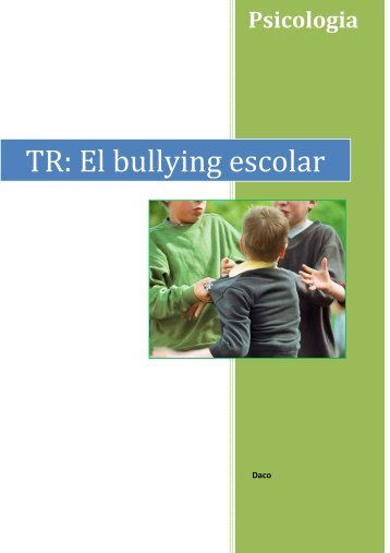 TR: El bullying escolar 2n Batxillerat 2 - Ajuntament de Cornellà
