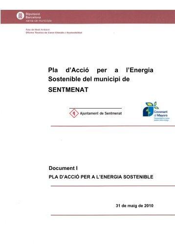 El Pla d'Acció per a l'Energia Sostenible del municipi de SENTMENAT