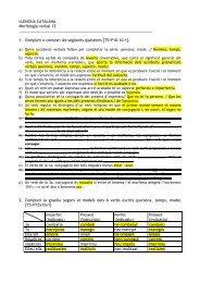 LLENGUA CATALANA Morfologia verbal 12 1 ... - esca, esca, esca