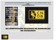 III COMPETICIÓN DESCENSO DE BARRANCOS DE CATALUNYA