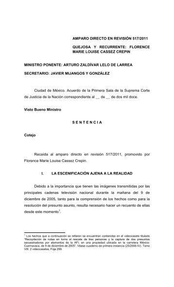 Amparo Directo en Revisión 517/2011 - Suprema Corte de Justicia ...