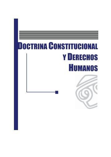 Doctrina Constitucional y de Derechos Humanos - EGACAL