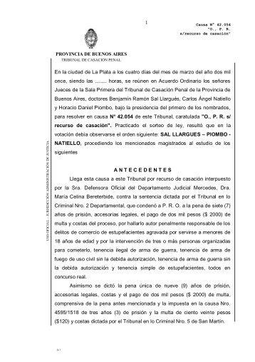En la ciudad de La Plata a los - Revista Pensamiento Penal