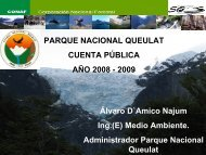 Cuenta Pública 2009 Parque Nacional Queulat - Conaf