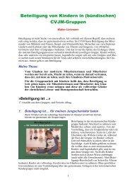Beteiligung von Kindern in CVJM-Gruppen - Jungschar.biz