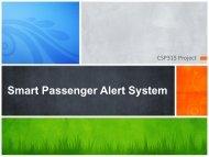 Smart Passenger Alert System