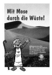Mit Mose durch die Wüste - Jungschar.biz