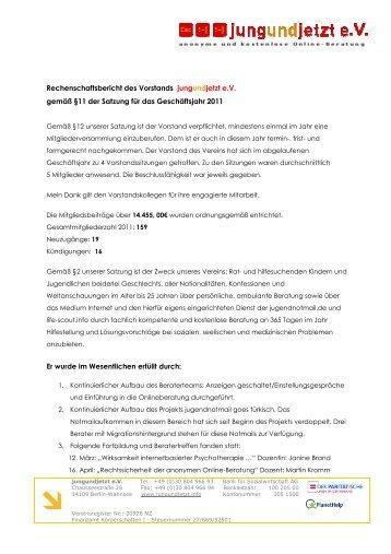 2012 Rechenschaftsbericht Korrektur 12.06.2012 - jungundjetzt e.V.