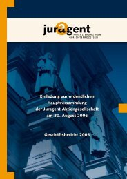 Einladung zur ordentlichen Hauptversammlung der ... - Juragent.de