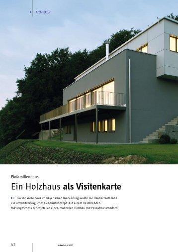 Ein Holzhaus als Visitenkarte - JURA Holzbau GmbH
