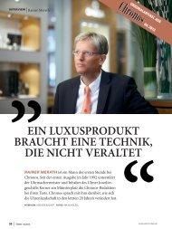 Interview mit R. Merath - Juwelier Ulm / Neu-Ulm