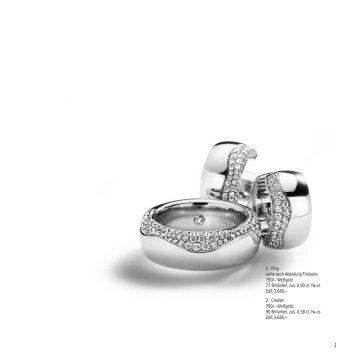 1 1. Ring siehe auch Abbildung Titelseite 750/– Weißgold 77 ...