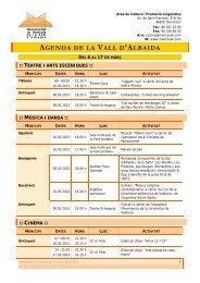 AGENDA DE LA VALL D'ALBAIDA - Ajuntament d'Atzeneta