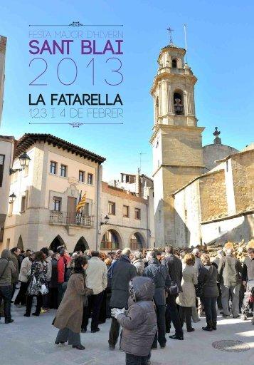 programa - Ajuntament de la Fatarella