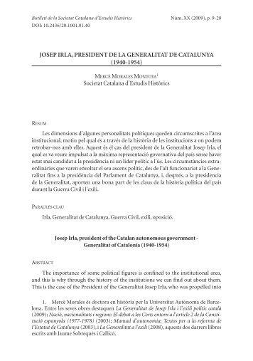 josep irla, president de la generalitat de catalunya (1940 ... - RACO