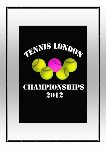 message from the organisers - Tennis London International