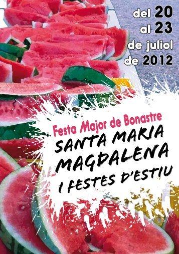 Magdalena - Bonastre - Diputació de Tarragona