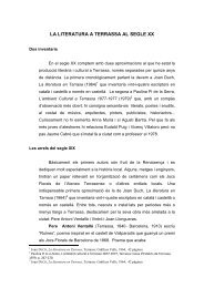 la literatura a terrassa al segle xx - Pàgines de la UAB - Universitat ...
