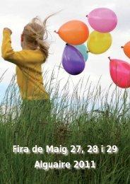 Fira de Maig 27, 28 i 29 Alguaire 2011 - Ajuntament d'Alguaire