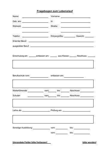 personal fragebogen