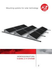 Montageanleitung S-LeveL 2.11 SyStem D Mounting ... - K2 Systems