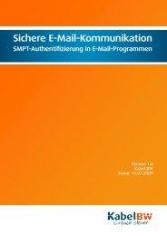 Kabel BW: SMPT-Authentifizierung in E-Mail-Programmen