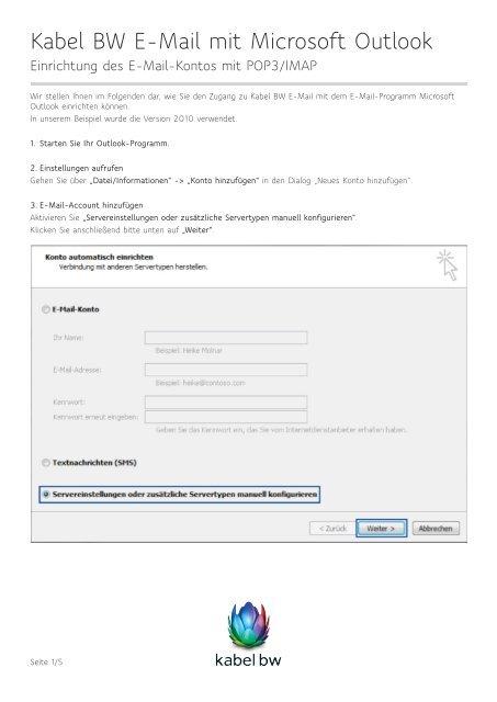 Kabel bw webmail