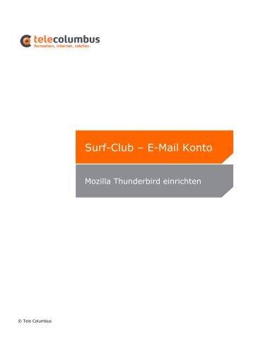 Surf-Club – E-Mail Konto - Tele Columbus