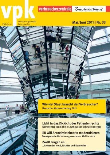 vpk - 06.2011 des Bundesverband Verbraucherzentrale - bei der ...