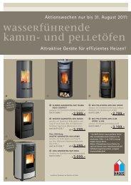 Wasserführende Kamin- und Pelletöfen - Frank Schott Kachelöfen