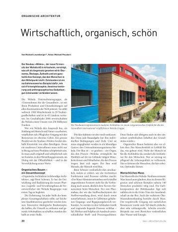 Die transformation der mo - Organische architektur ...