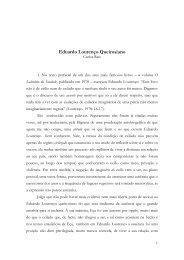 Carlos Reis - Eduardo Lourenço