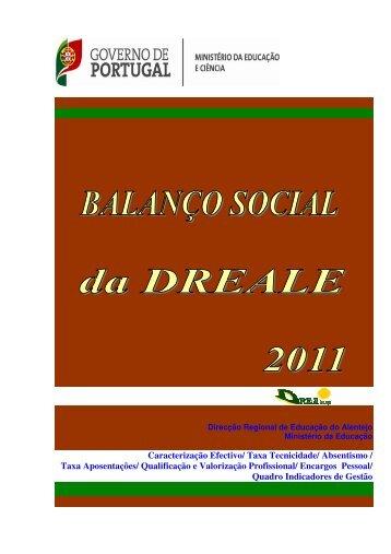 Balanço Social 2011 - Direcção Regional de Educação do Alentejo