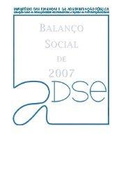Balanço Social 2007 - ADSE