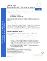 Oral Surgery: a Patient Education Booklet - University Health Network