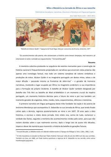 Mito e Memória na Jornada de África e sua reescrita