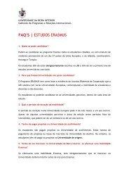 FAQ'S | ESTUDOS ERASMUS - UBI