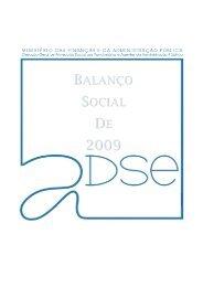 Balanço Social / 2009 - ADSE