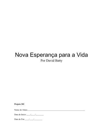 Nova Esperança para a Vida - Desafio Jovem do Brasil