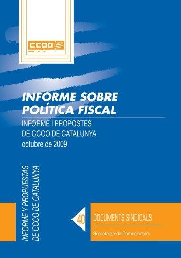 102. Informe sobre política fiscal - CCOO de Catalunya