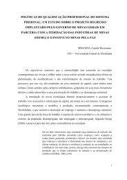 políticas de qualificação profissional do sistema prisional - Rede de ...